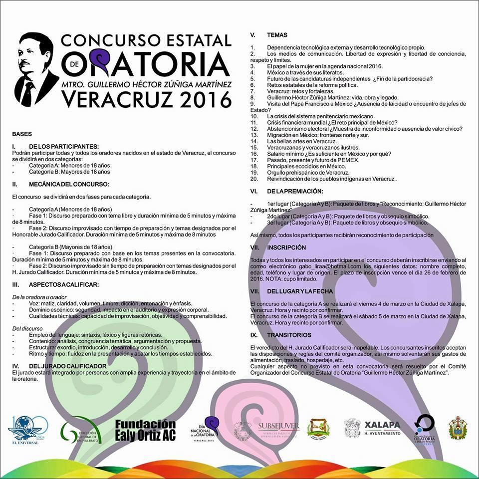 convocatoria concurso de oratoria 2016 e s t industrial